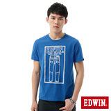 EDWIN 牛仔褲線稿3M反光T恤-男-藍色