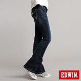 EDWIN MISS EDWIN拼接袋蓋靴型牛仔褲-女-石洗藍