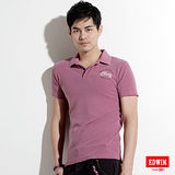 EDWIN 後染基本POLO衫-男-紫褐