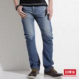 EDWIN E-FUNCTION ZERO中直筒牛仔褲-男-拔淺藍