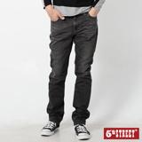 5th STREET 美式粗線窄直筒牛仔褲-男-中灰色