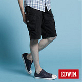 EDWIN KHAKI貼袋馬褲-男-黑色
