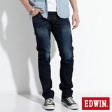 EDWIN 大尺碼 E-FUNCTION ZERO中直筒牛仔褲-男-原藍磨