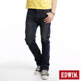 EDWIN 大尺碼 E-FUNCTION ZERO中直筒牛仔褲-男-中古藍