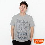 5th STREET 骷髏貼布印T恤-男-麻灰 L