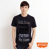 5th STREET 骷髏貼布印T恤-男-丈青