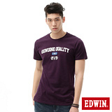EDWIN 英式貼布休閒短袖T恤-男-暗紫
