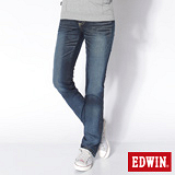 EDWIN MISS EDGE小直筒牛仔褲-女-原藍磨