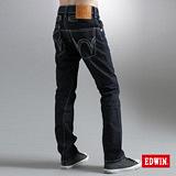 EDWIN B.T不對稱口袋直筒牛仔褲-男-原藍色