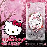 三麗鷗授權正版 Hello Kitty凱蒂貓 Sony Xperia Z3+ 透明軟式手機殼(花邊Kitty)