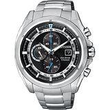 CITIZEN 鈦金屬光動能計時腕錶-黑/44mm CA0551-50E