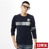 EDWIN 江戶勝布花圖T恤-男-丈青色