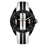 MINI Swiss Watches 雷霆奔馳 原創設計腕錶(黑白/38mm) MINI-81