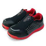【男】GOOD YEAR 寬楦輕便鋼頭防護工作鞋 Extra light 黑紅 53092