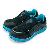【男】GOOD YEAR 寬楦輕便鋼頭防護工作鞋 Extra light 黑藍 53096