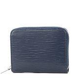Louis Vuitton LV M60384 EPI 水波紋皮革信用卡拉鍊零錢包.靛藍 預購