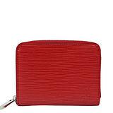 Louis Vuitton LV M60720 EPI 水波紋皮革信用卡拉鍊零錢包.紅 預購