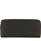 Louis Vuitton LV M60915 Clemence EPI 水波紋皮革拉鍊長夾.黑 預購
