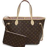 Louis Vuitton LV M50366 NEVERFULL MM 經典花紋子母束口購物包.粉紅 預購