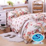 【Saebi-Rer-甜蘋之約】台灣製活性柔絲絨雙人六件式床罩組