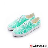 AIRWALK(女) - 復古花絮紛飛 純棉帆布鞋 - 落水綠