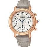 SEIKO CS系列計時石英女錶-銀x灰/34mm 7T12-0BA0P(SRW872P1)