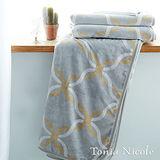 Tonia Nicole東妮寢飾典藏幾何雙層加厚超細雪芙蓉毯(雙人)