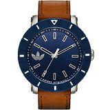 adidas Originals Big Cambridge 爭鋒霸氣腕錶-藍/54mm ADH3000