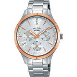 ALBA Fashion Lady 時尚俏女孩晶鑽腕錶-銀/36mm VD75-X093KS(AP6446X1)