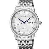 SEIKO Presage 羅馬時光機械腕錶-白/40mm 4R36-04E0S(SRP691J1)
