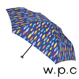 【w.p.c】煥彩魚點*晴雨兩用輕量防風手開三摺傘(深藍)
