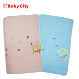 【娃娃城-Babycity】無撚紗寶寶浴巾(藍粉雙色可選)