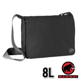 【瑞士 MAMMUT 長毛象】新款 Shoulder Bag 抗撕裂大掀蓋側背包 8L 00560-0001 黑