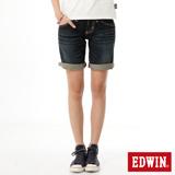 EDWIN BLUE TRIP牛仔短褲-女-中古藍