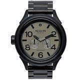 NIXON OCTOBER TIDE 戰鷹裴龍經典時尚腕錶-黑