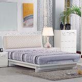 AT HOME-倫斯5尺白色雙人床架