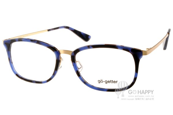 Go-Getter眼鏡 時尚百搭款(藍琥珀-金) #GO2017 C04