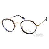 Go-Getter眼鏡 簡約圓框款(藍琥珀-金) #GO2019 C04