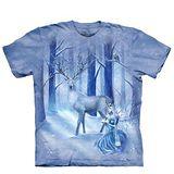 【摩達客】(預購) 美國進口The Mountain 麋鹿雪女 純棉環保短袖T恤