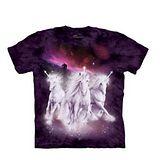 【摩達客】(預購) 美國進口The Mountain 銀河獨角獸 純棉環保短袖T恤