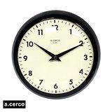 a.cerco ACSUKCLM Clock 小鐵凸玻璃掛鐘 黑色