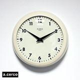 a.cerco ACSUKCLM Clock 小鐵凸玻璃掛鐘 米色