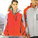 義大利 DIADORA女版運動休閒二件式(外套+雙面穿背心)-粉灰/桔紅