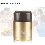 【韓國-MARISA】316不鏽鋼可提悶燒罐680ML-金色