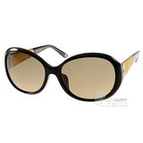 GUCCI太陽眼鏡 奢華時尚18K鍍金廣告款(黑) #GG3706FS 2XTED