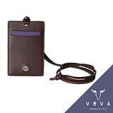 VOVA 自由系列透明窗蜥蜴紋證件夾(酒紅色)VA106W019BOR