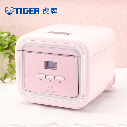 【TIGER虎牌】Hello Kitty款 3人份微電腦炊飯電子鍋(JAJ-K55R-PX)買就送虎牌250CC食物罐一支+專用食譜