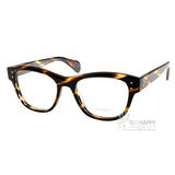 OLIVER PEOPLES眼鏡 復古粗框款(棕紋琥珀) #PARSONS 1003