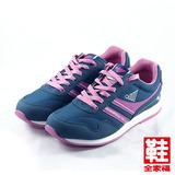 (女) JUMP MIT輕量復古慢跑鞋 藍 將門 鞋全家福