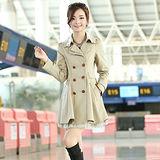 【DearBaby】雙排釦傘狀領蕾絲風衣外套-共三色(預購)M-XXL